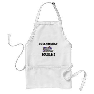 ¡Regla de los TIBURONES de BULL! Delantal