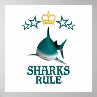 Regla de los tiburones póster