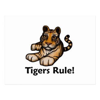 ¡Regla de los tigres! Postales
