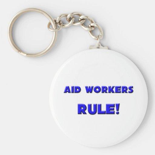 ¡Regla de los trabajadores de ayuda! Llavero Redondo Tipo Pin