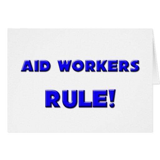 ¡Regla de los trabajadores de ayuda! Tarjeta De Felicitación