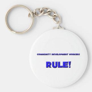 ¡Regla de los trabajadores de desarrollo de comuni Llavero Personalizado