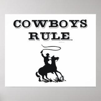Regla de los vaqueros de la CAMISETA Posters