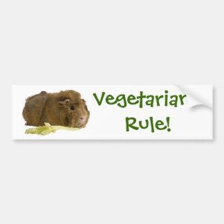 ¡Regla de los vegetarianos! Pegatina Para Auto