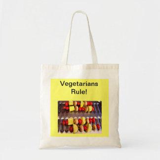 ¡Regla de los vegetarianos! Tote Bolsa