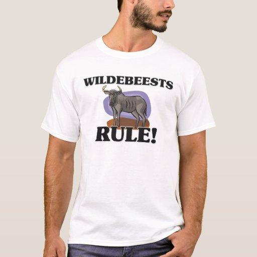 ¡Regla de los WILDEBEESTS! Playera