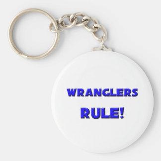 ¡Regla de los Wranglers! Llavero Redondo Tipo Pin