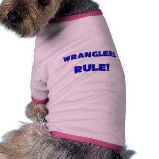 ¡Regla de los Wranglers! Camiseta Con Mangas Para Perro