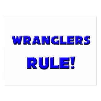¡Regla de los Wranglers! Tarjetas Postales