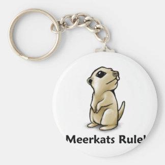 ¡Regla de Meerkats! Llavero Redondo Tipo Pin