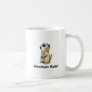 ¡Regla de Meerkats! Taza Básica Blanca