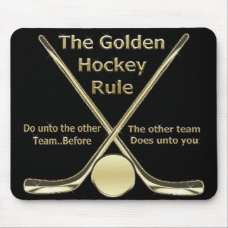 Regla de oro Mousepad del hockey