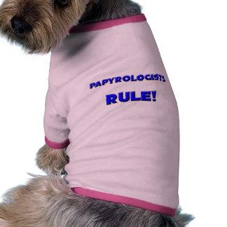 ¡Regla de Papyrologists Camisa De Mascota