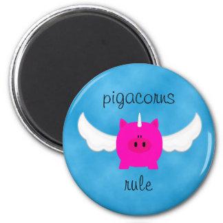 Regla de Pigacorns Imán Redondo 5 Cm
