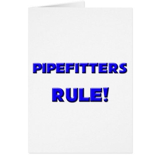 ¡Regla de Pipefitters! Tarjeton