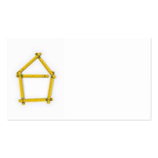 regla de plegamiento - forma de la casa tarjetas de visita