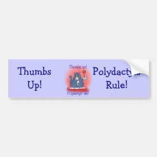 ¡Regla de Polydactyls! Pegatina De Parachoque