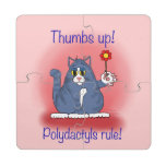 ¡Regla de Polydactyls! Posavasos De Puzzle
