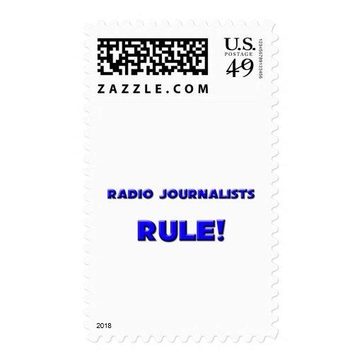 ¡Regla de radio de los periodistas! Sello