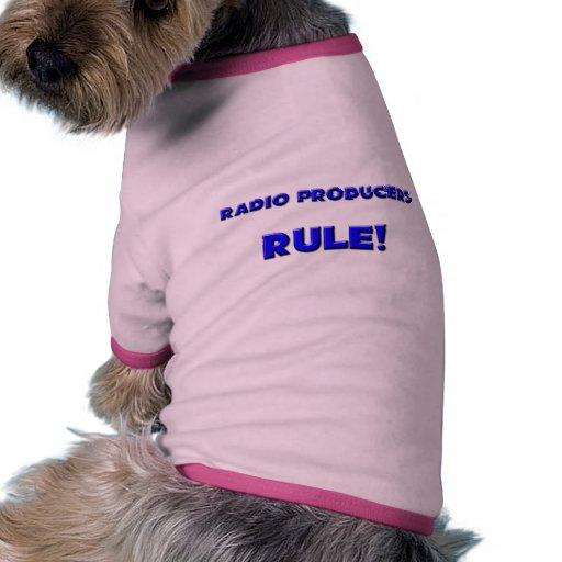 ¡Regla de radio de los productores! Camiseta Con Mangas Para Perro