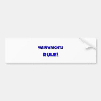 ¡Regla de Wainwrights! Etiqueta De Parachoque