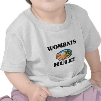 ¡Regla de WOMBATS! Camisetas