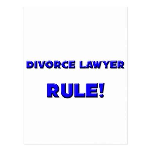 ¡Regla del abogado de divorcio! Postales