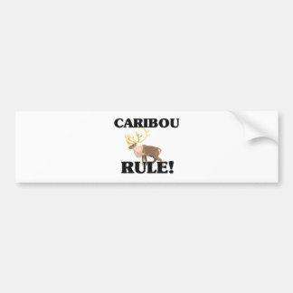 ¡Regla del CARIBÚ! Pegatina Para Auto