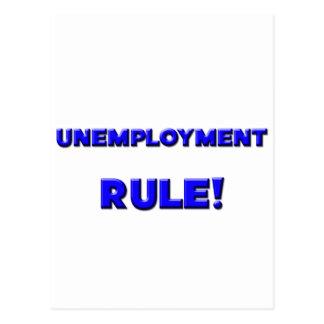 ¡Regla del desempleo! Postal