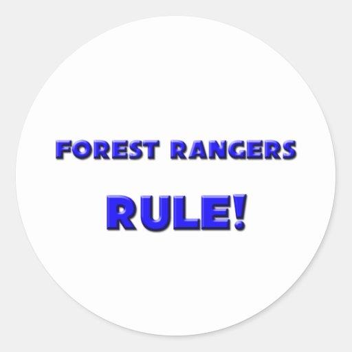 ¡Regla del Forest Rangers! Pegatina Redonda