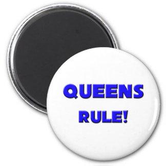 ¡Regla del Queens! Imán Redondo 5 Cm
