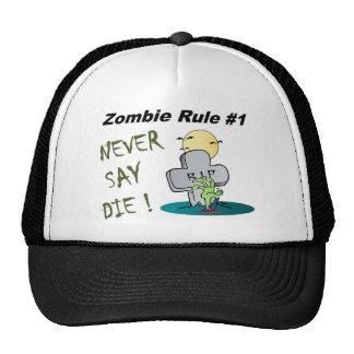 Regla del zombi llena gorro