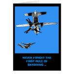 Regla divertida, primera de cumpleaños skydiving tarjetón