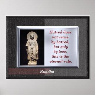Regla eterna - cita de Buda - impresión del arte Póster