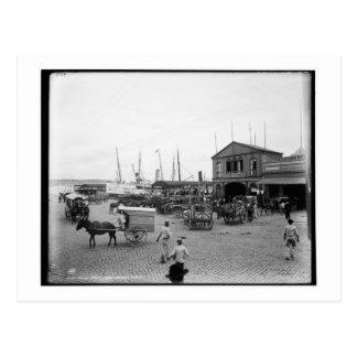 Regla ferry, Plaza de Luz, Havana c1900 Vintage Postcard