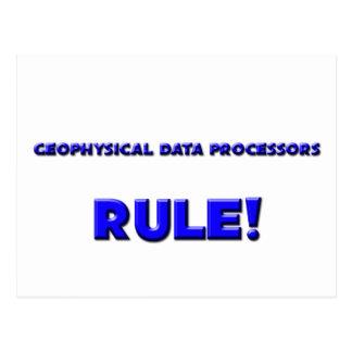 ¡Regla geofísica de los informáticos! Postales