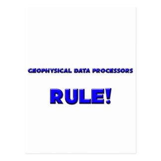 ¡Regla geofísica de los informáticos! Tarjeta Postal