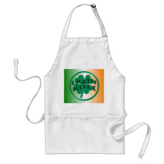 Regla irlandesa - colores y trébol de Irlanda Delantal