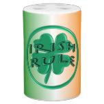 Regla irlandesa - colores y trébol de Irlanda Conjunto De Baño
