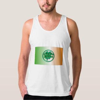 Regla irlandesa - colores y trébol de Irlanda Playera De Tirantes American Apparel De Jersey Fin