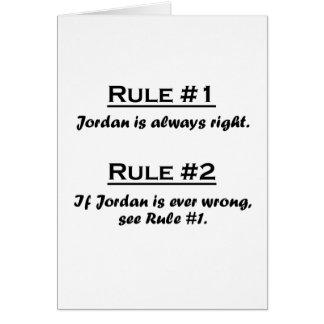 Regla Jordania Tarjeta Pequeña
