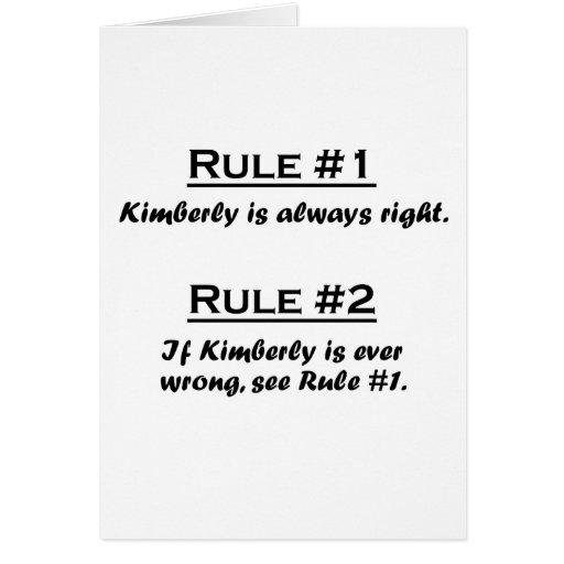 Regla Kimberly Tarjeta Pequeña