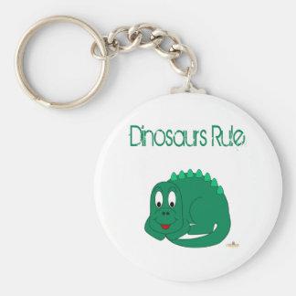 Regla linda de los dinosaurios del Lt dinosaurio v Llavero Personalizado