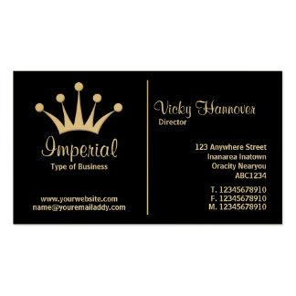 Regla media (corona) - negro (oro) tarjetas de visita