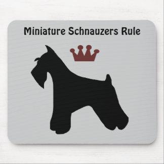 Regla Mousepad de los Schnauzers miniatura