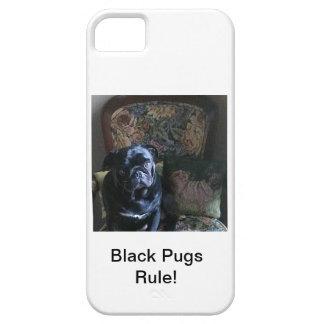 Regla negra de los barros amasados iPhone 5 fundas