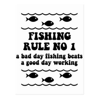 Regla ningún de la pesca 1 postales