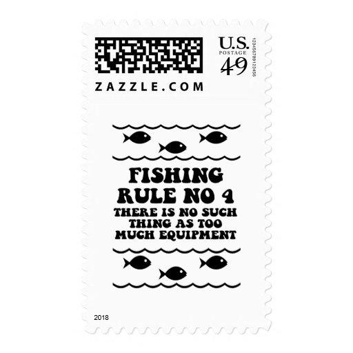 Regla ningunos de la pesca 4 franqueo