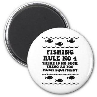 Regla ningunos de la pesca 4 imán redondo 5 cm