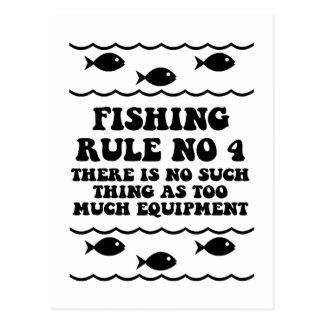 Regla ningunos de la pesca 4 tarjetas postales